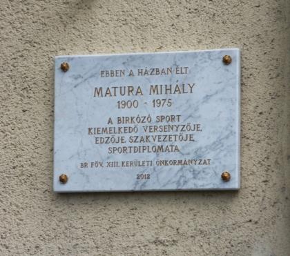Matura Mihály emléktáblája
