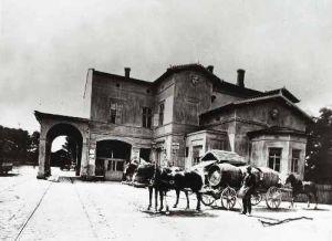 A lóvasút végállomása 1880 körül