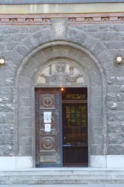 Katolikus templom bejárata