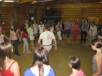 Fiatalok a testvérvárosi táborban