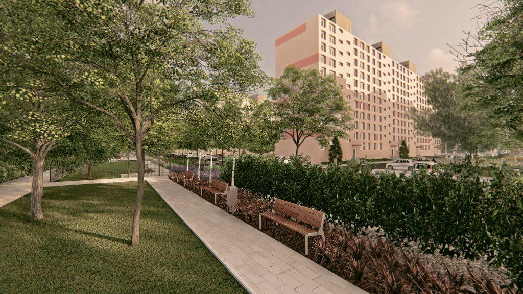 Tervezett Csángó park látképe